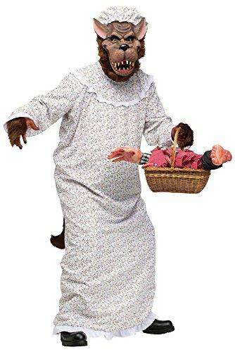 Lustiges Herren-Kostüm - Großer Böser Wolf Großmutter,One size, Rotkäppchens Oma (Kostüme Und Der Wolf Rotkäppchen)
