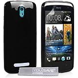 Coque HTC Desire 500 Etui Noir Silicone Gel Housse