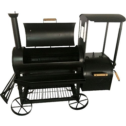 Syntrox Germany Smoker S-2�Lok Deluxe Barbecue BBQ Grill Smoker Charcoal Barbecue with Wheels