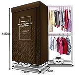 Clothes dryer Essiccatore, essiccatore Elettrico Portatile, stendipanni ad Aria Staccabile per Uso Domestico, economizzatore d'energia, Armadio per Asciugatura, Marrone