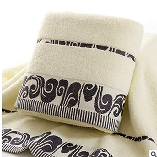 Laoliydnb asciugamano asciugamano da spiaggia beige modello nuvola ricamato per bagno doccia hotel inmicrofibra morbida, a
