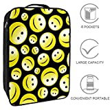 Bennigirya Emoji Smiley Reisetasche für Schuhe, tragbare Aufbewahrung, Organizer für Golf,...