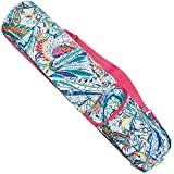 SUMMER CLEARANCE SALE New Colorful Paisley Yoga Lover Matpack Travel Tote Bag With Zipper And Strap Handle Set For Women Teen Girl Special Back To School Birthday Gift Idea (Paisley Multicolored Tote)