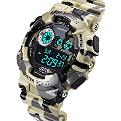Men's waterproof and shockproof watches/Multifunction Watches/ leisure sports electronic watch-A