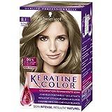 Kératine Color Coloration Permanente 8.1 Blond Cendré 60 ml