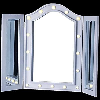 Led Triple Mirror Vanity Dressing Table Cosmetic Makeup Bedroom Beauty Light Box produced by NT - quick delivery from UK.