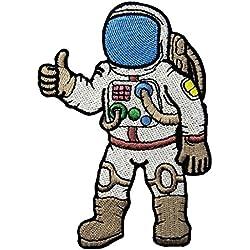 Astronauta Un Viaje Al Espacio Bordó El Hierro En Coser En El Remiendo