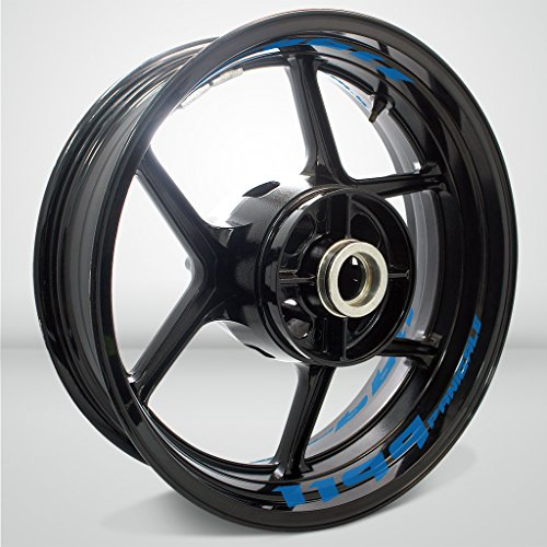Preisvergleich Produktbild Matt Blau Motorrad Inner Rim Tape Decal Aufkleber für Ducati 1199 Panigale