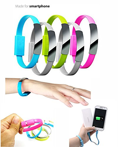 2015 Newest Colorful Micro USB 2.0 Data Sync Charger Wrist Bracelet Shape, Specialley design for Power bank charger. Size 0.7Ft Feet 8.5 Inch For Samsung Galaxy Note 2, Galexy S4, Galaxy S3, Galaxy S2, Galaxy Nexus, HTC One X, One S, Sensation G14, ThunderBolt, Nokia N9 Lumia 920 900, Blackberry Z10, Sony Xperia Z; and More - Colour - Black  available at amazon for Rs.149