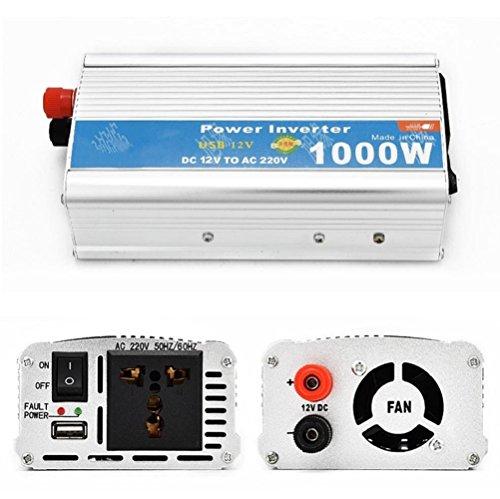 Power Inverter Auto Spannung Konverter Zigarettenanzünder Adapter Power Inverter 1000W mit USB Auto Inverter 12V to110V (Starter-pumpe Jump)