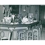 Vintage photo de barman y Bar contador.