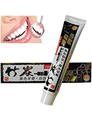 KISSION Dentifrice Blancheur Blanchiment de Charbon Bambou Antibactérien