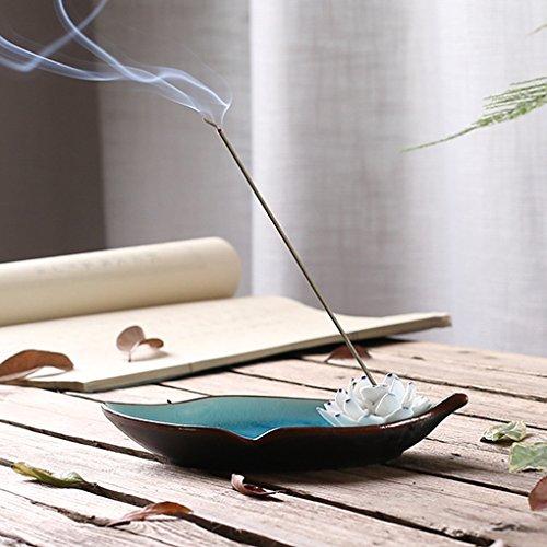 Handmade incenso lotus portaincenso basamento cenere vassoio in porcellana home buddista decor birthday christmas gift blue