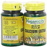 Veganicity Calcium Extra Joint and Bone Health Supplement - 2 x Packs of 30 Tablets (60 Tablets) by Health + Plus Ltd