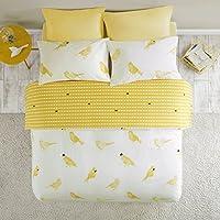 Bettwäsche Kariert Weiß Gelb Star 135x200 200x200 Mikrofaser Karo Bettbezug Set