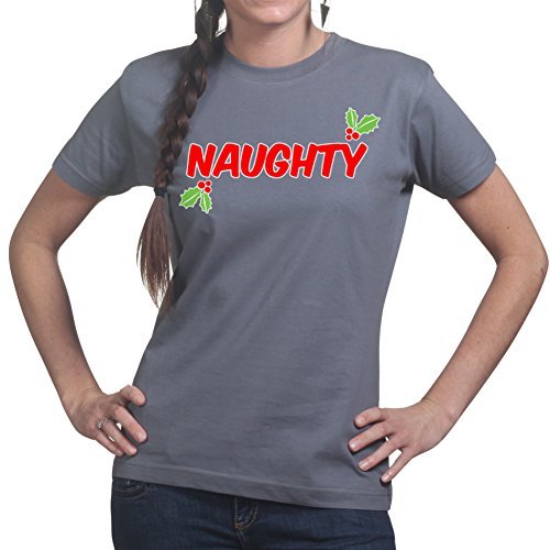 Naughty Santa Christmas Xmas Party Gift Ladies T shirt