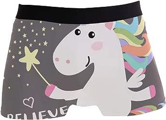 Slip da Uomo Boxer Cute Animal Magical Unicorn Underwear Maschio Tronchi Elasticizzati Traspiranti Bulge Pouch Soft Underpants