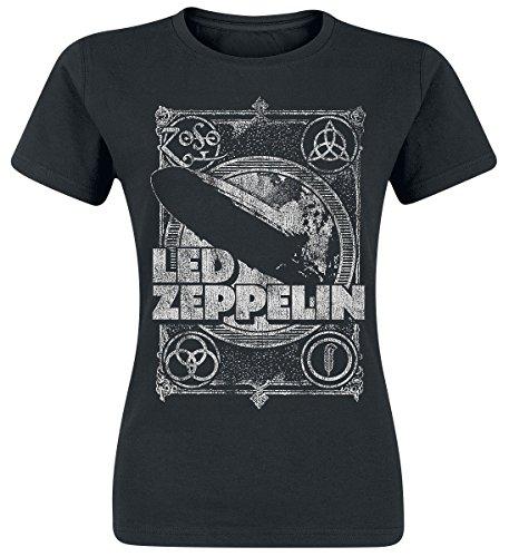 Led Zeppelin Shook Me Girl-Shirt Schwarz L (Led Zeppelin T-shirt)