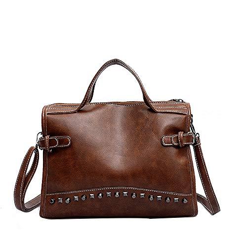 a5c15b0c57 Borse Donna Elegante,feiXIANG Rivetto portatile a spalla obliqua a forma di  borsa retro marea