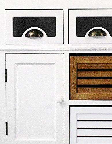 SAM® Sideboard I Paris 454 aus weiß lackiertem Paulowniaholz im Landhausstil, teilmassiv, 4 Schubboxen, 2 Schubladen, 2 Holztüren, viel Stauraum - 2