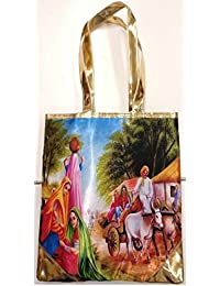 Women's Tote Bag Digital Print Hand Bag Zipped Fashion Canvas Large Space