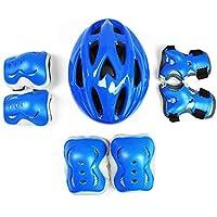 FF Ellenbogen Handgelenk Kniesch/ützer Und Helm//Kinder Sport Sicherheit Schutzausr/üstung 7pcs Farbe : Blue