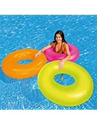 Swimming Pool Training Aid Fun Play Floats/inflatable Swim Ring Neon Frost Tube by Only Swim