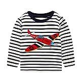 De feuilles Chic-Chic T-Shirt Pulls Haut Pull-Over Top Sport Sweatshirt Bébé Garçon Fille Rayure Casual Mignon Cartoon Imprimée Avion Avion 5-6 Ans