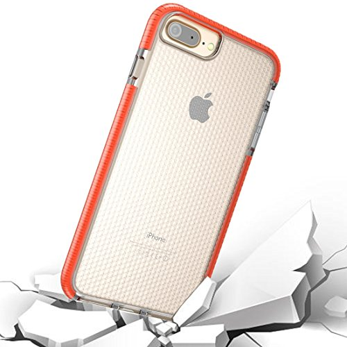 GHC Cases & Covers, Für iPhone 8 Plus & 7 Plus & 6 Plus Basketball Textur Anti-Kollision TPU Schutzhülle zurück Fall ( Color : Orange )