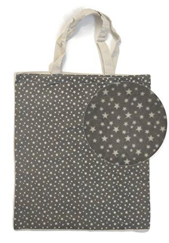 Bada Bing Einkaufstasche Stern Jute Tasche Einkaufsbeutel grau beige