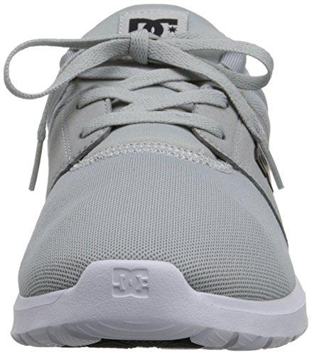 DC Heathrow Skate Shoe, Black/Grey/Green, 14 M US Light Grey