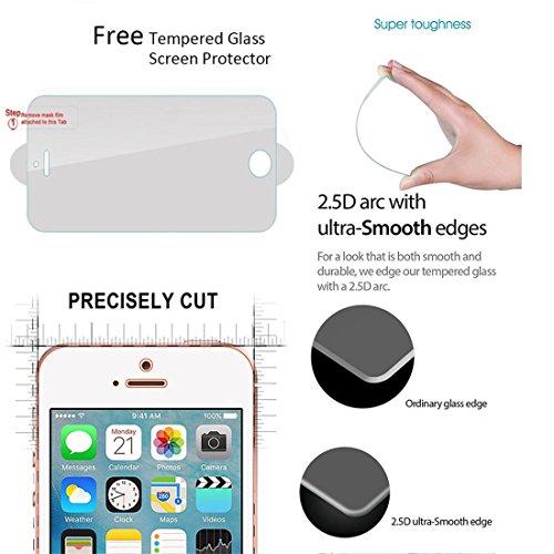 ifeeker Flip Wallet Handy Schutzhülle für iPhone 5/5S/5SE/6/6S/Plus/iPod Touch 5./6. [mit gratis gehärtetem Glas Displayschutzfolie]–Luxus Niedlich Muster [Chrysanthemen, drei Tage in New York City, Ghost Black