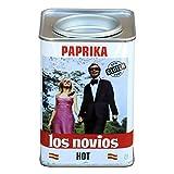 LOS NOVIOS - Pimentón Picante Natural 170 g - Paprika Los Novios Gourmet: cultivado y envasado en España (Picante)