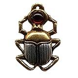 24-Trendshop Skarabäus Ägyptischer Anhänger Amulett Talisman Schmuck - Mut und Schutz - mit Halskette