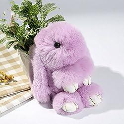 Cewaal Cute Conejo Suave Conejo de Piel de teléfono Colgante de Bolso Chica Anillo de la Cadena dominante para el Bolso y los monederos Colgante de Coche