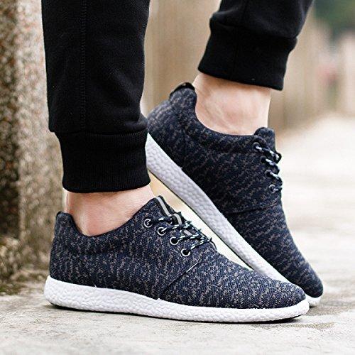 GRRONG Chaussures Hommes Toile Perméable à L'air Décontractéélégant blue