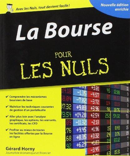 La Bourse pour les Nuls de Gérard Horny (17 avril 2014) Broché