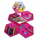 #4: INDIAN GIFT GALLERY Pencil Colors Box Color Pencil ,Crayons , Water Color, Sketch Pens Set Of 46 Pieces (Color & Design For Kids)