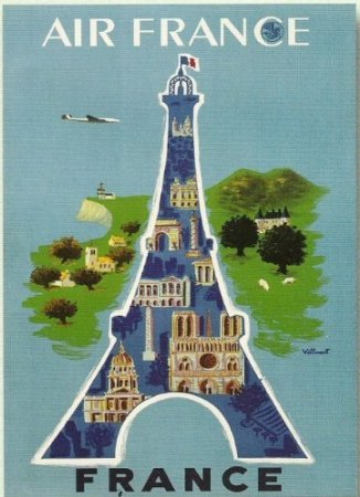 affiche-50x70cm-pub-retro-air-france-par-villemot