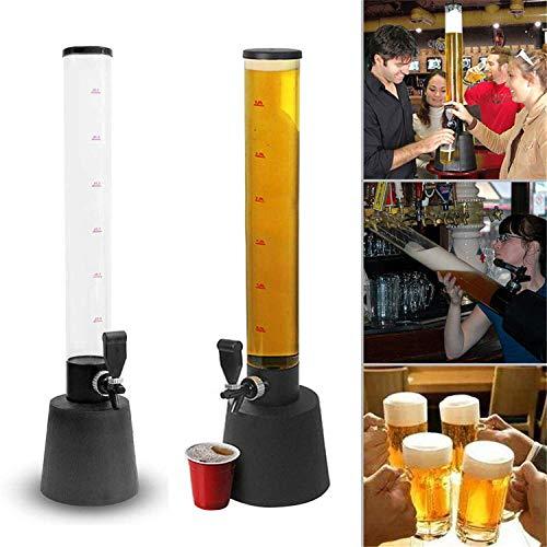 JUEYAN® 3.5L 85.5cm Alto Dispensador de Cerveza y Bebidas Torre de Cerveza con Grifo Columna de Cerveza...