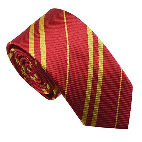 Kostüm Krawatte Hermine - Multiculture Harry Potter Krawatte Gryffindor Ravenclaw Hufflepuff Slytherin Kostüm (Gryffindor-rot)