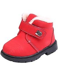 2ee87dd0741cb HKFV Wasserdichte Schneeschuhe Kinder Mode Jungen Mädchen Sneaker Winter  Dick Schnee Baby Casual Schuhe Stiefel
