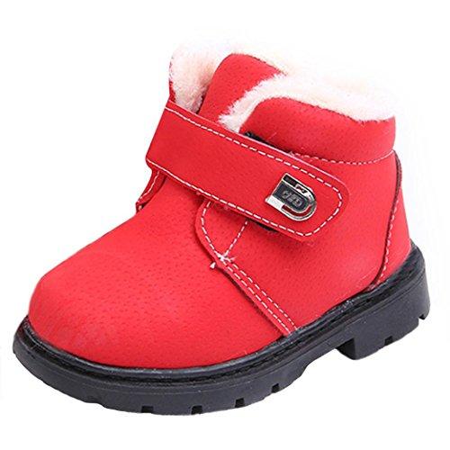 Kinder Bunny Schuhe (Wasserdichte Schneeschuhe HKFV Kinder Mode Jungen Mädchen Sneaker Winter Dick Schnee Baby Casual Schuhe Stiefel (23,)