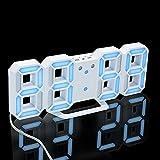 Bonjouree Horloges Murales LED Digital Pendulettes de Bureau Réveils électroniques (B)
