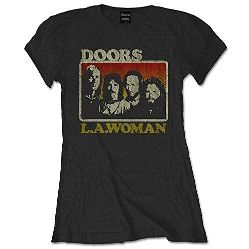 Official The Doors Ladies T-Shirt in Black : ~~ LA Woman ~~ (Large)