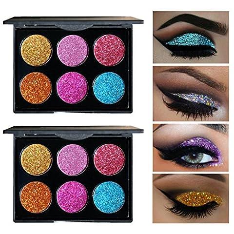 6 Colors Eye Shadow , zycShang Shimmer Glitter Eye Shadow Powder Palette Matte Eyeshadow Cosmetic Makeup Tools