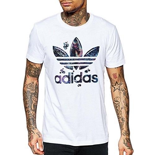 Adidas Running Fill T T-Shirt da Uomo a Maniche Corte, Bianco, 2XL
