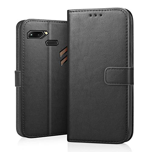 RIFFUE Asus ROG Phone Hülle, Handyhülle Asus ROG Phone Leder PU Vintage Schutzhülle Brieftasche Case Cover Standfunktion 6