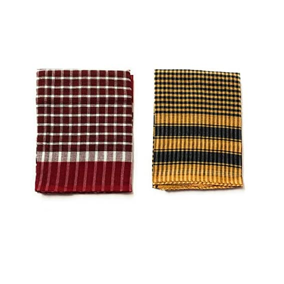 TopOn Creations Men's and Women's Soft Cotton Bath Towel (Large/30x70 inch) - Pack of 2