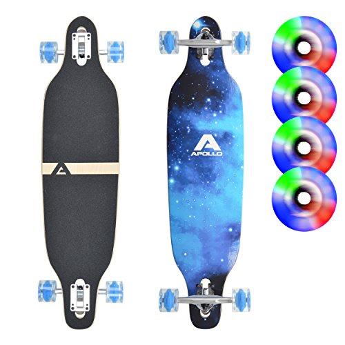 Apollo Longboard edición Especial Tabla Completa, con rodamientos de Bolas ABEC Alta velicidad, Drop-Through Freeride Skate Cruiser Boards